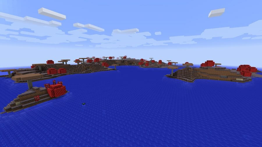 minecraft-seed mooshroom islands