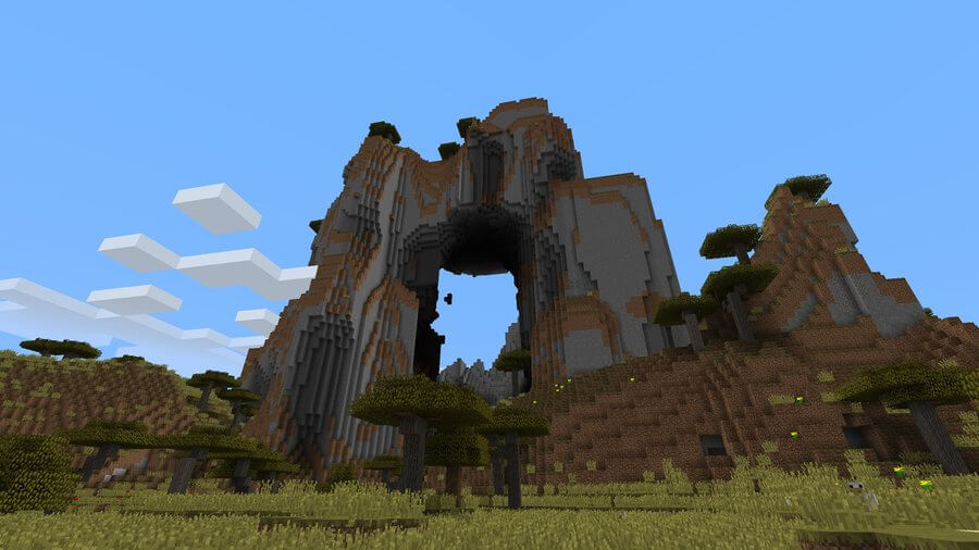 minecraft seed arching mountain