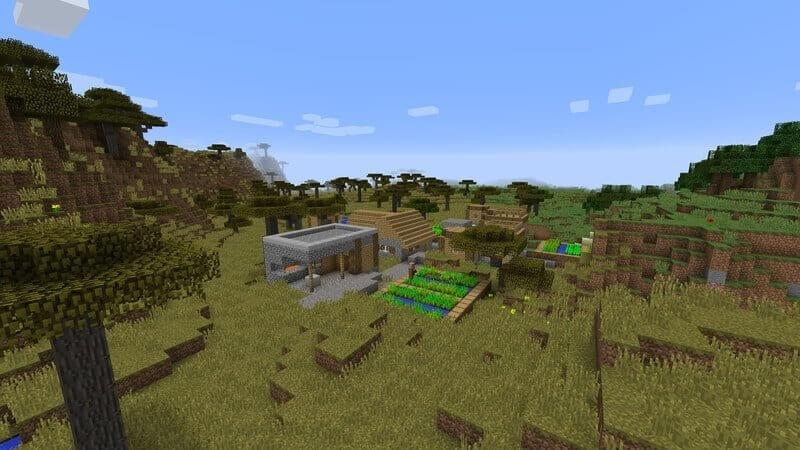 minecraft seed medieval village