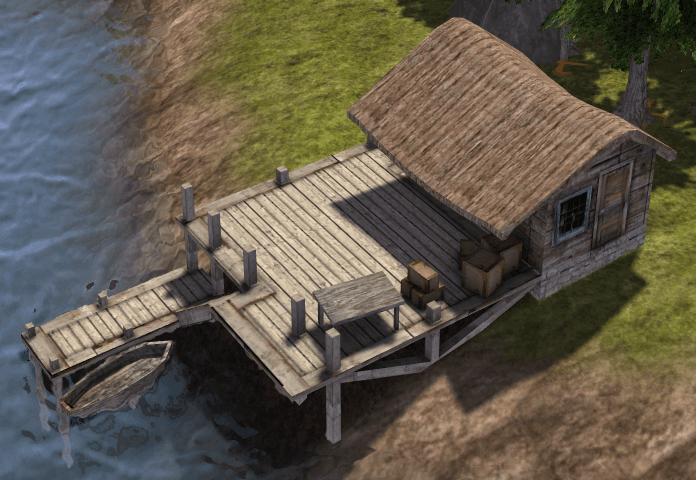Banished Fishing Dock Mod