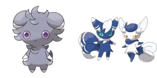 Pokémon Espurr and Meowstic