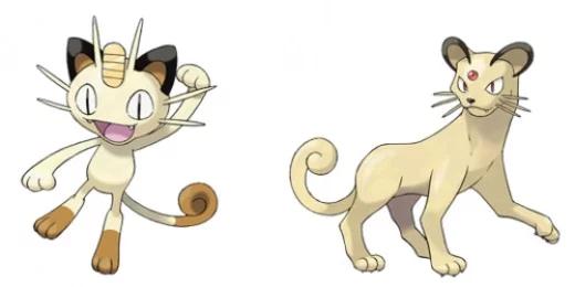Pokémon Meowth and Persian