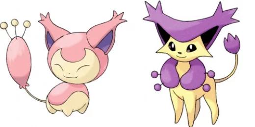 Pokémon Skitty and Delcatty