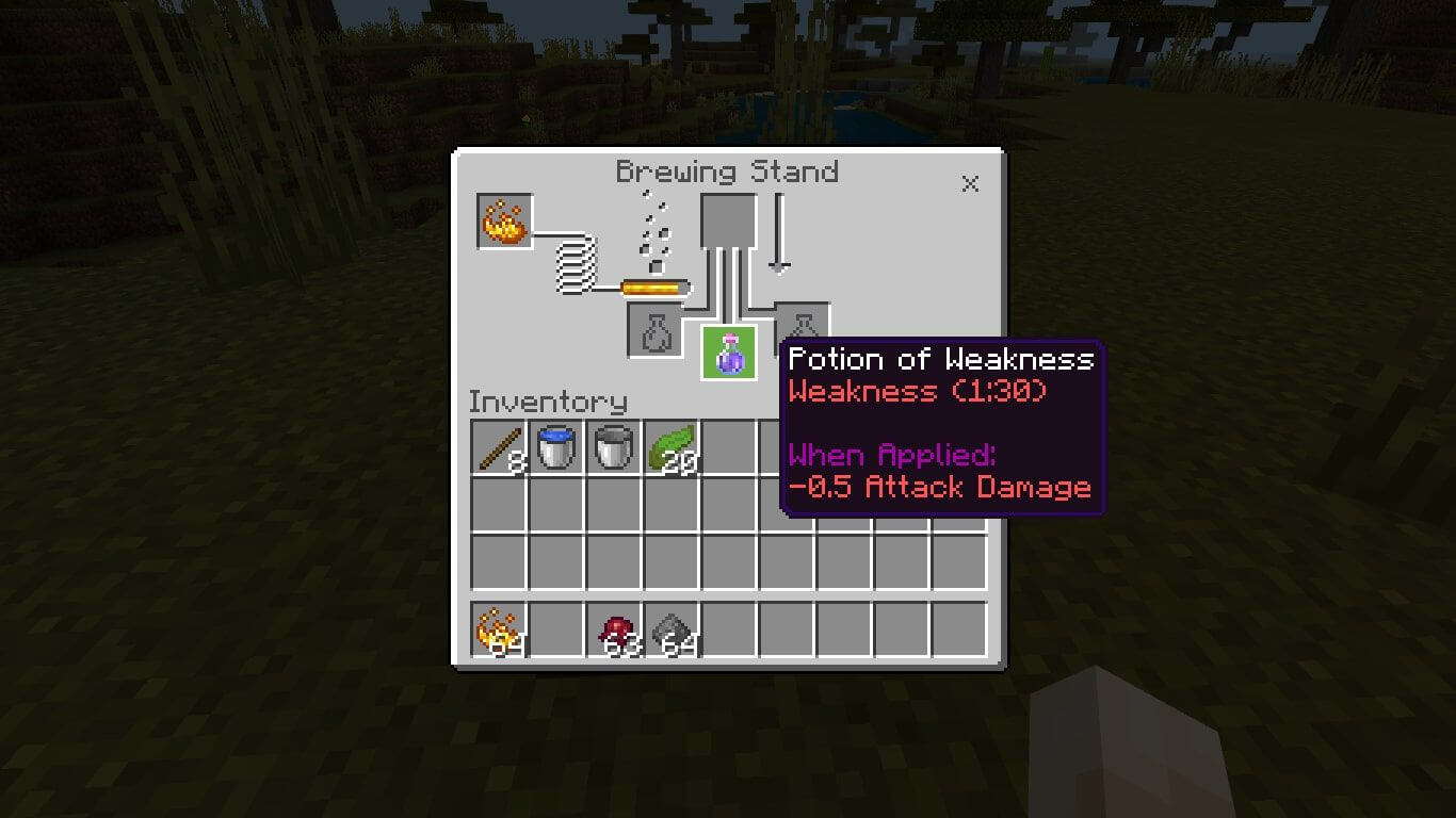 Minacraft Potion of Weakness
